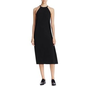 DKNY Women's Black Sleeveless Draped Crepe Dress